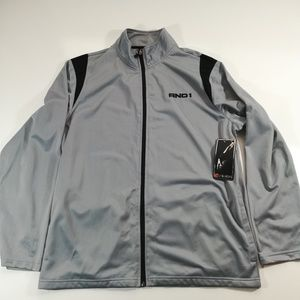 NWT AND1 Gray And Black Zipper Jacket Size XL